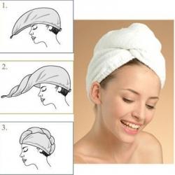 Ręcznik do włosów turban z mikrofibry